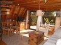 Wohnzimmer mit LCD-Fernseher - Ferienhaus Ferienzeit - Ferienhäuser in Ahrenshoop