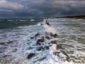 Wellenbrecher Wustrow mit Blick auf die Steilküste von Ahrenshoop - Ferienhaus Ferienzeit - Ferienhaus Strandgut - Ferienhäuser in Ahrenshoop