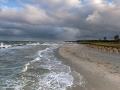 Wustrow Strand mit Blick auf die Steilküste von Ahrenshoop - Ferienhaus Ferienzeit - Ferienhaus Strandgut - Ferienhäuser in Ahrenshoop