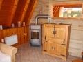 Wohnzimmer mit Kamin - Ferienhaus Ferienzeit - Ferienhäuser in Ahrenshoop